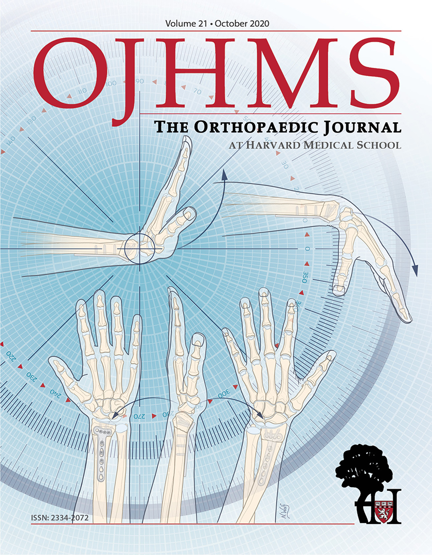 The Orthopaedic Journal at Harvard Medical School Cover, Volume 21, October 2020
